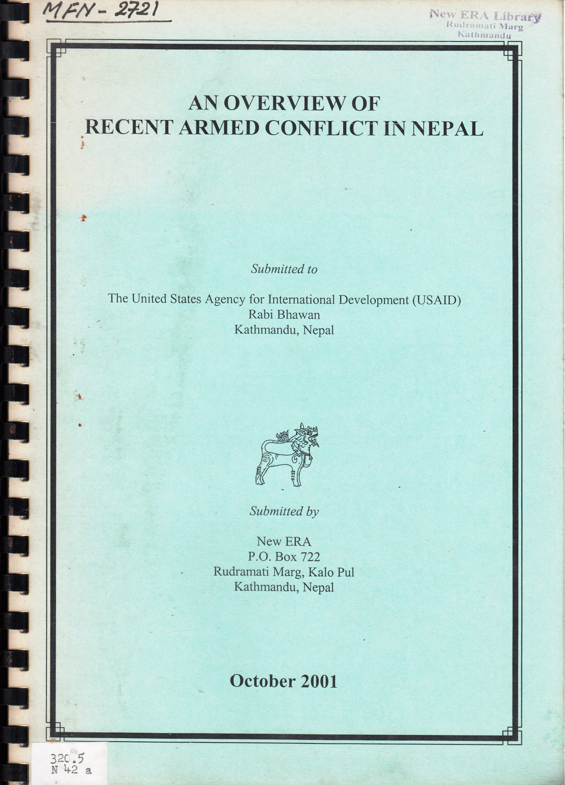 An Overview of Recent Armed Conflict in Nepal