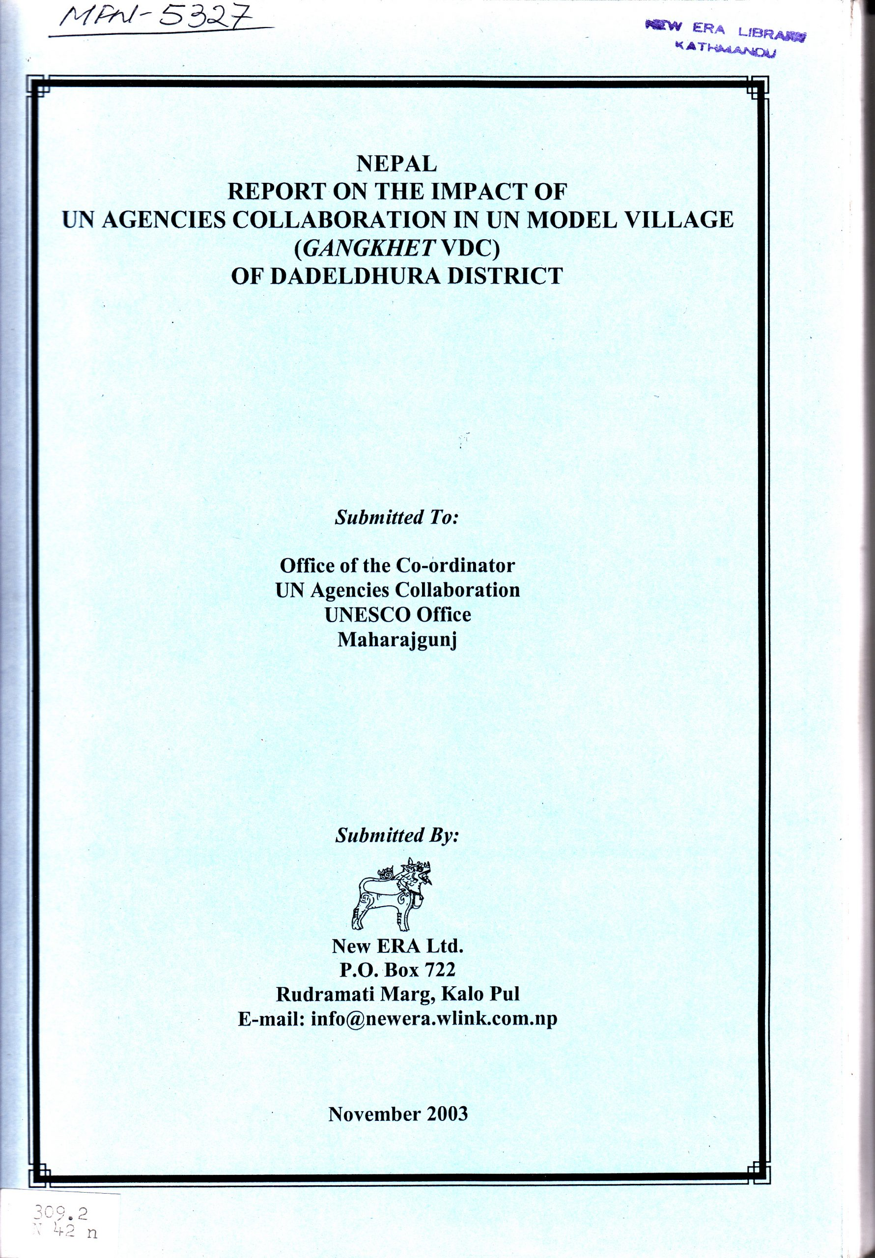 Nepal – Report on the Impact of UN Agencies Collaboration in UN Model Village (Gangkhet VDC) of Dadeldhura District