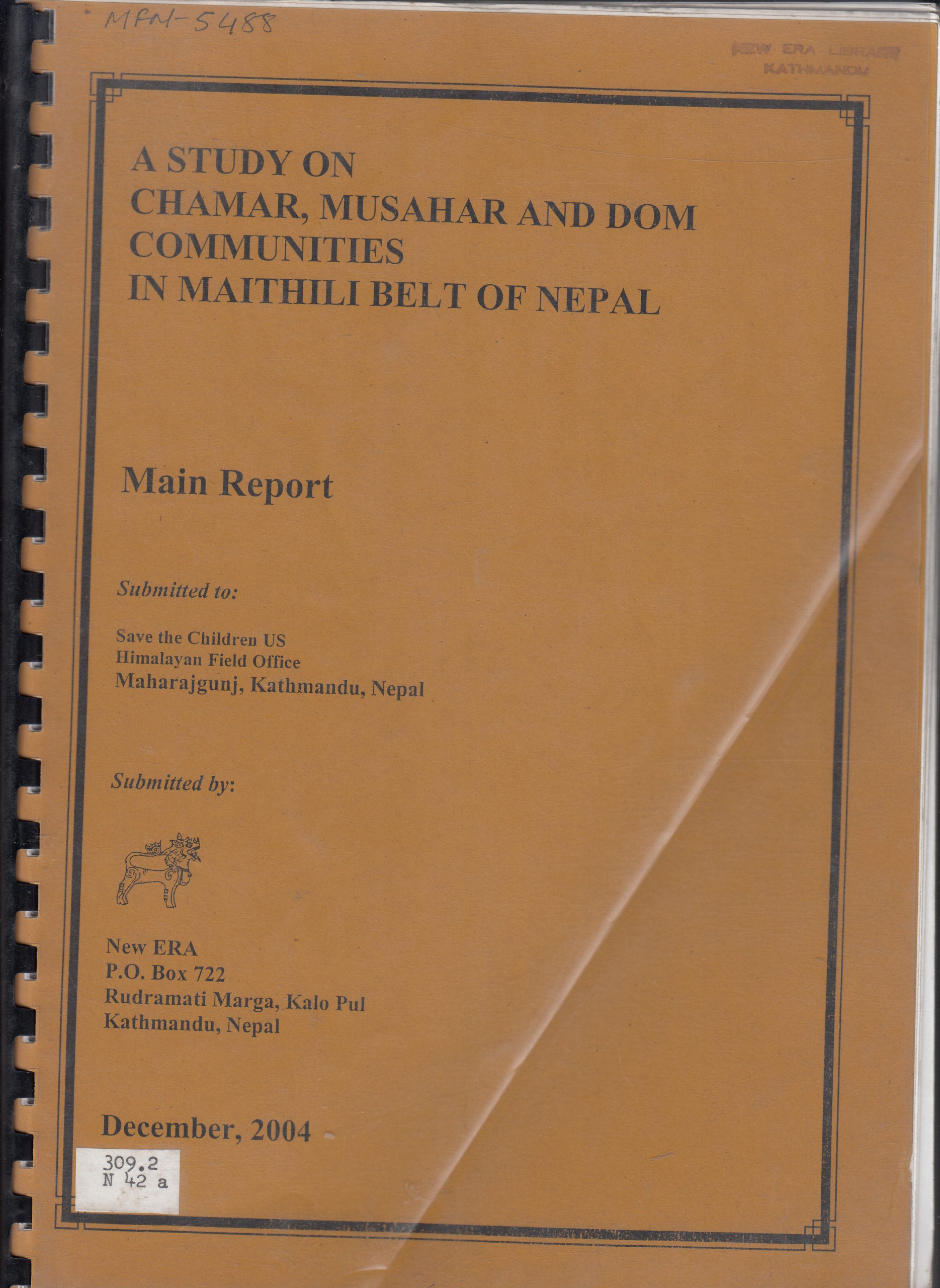A Study of the Musahar, Chamar and Dom Communities in the Maithili Belt of Nepal
