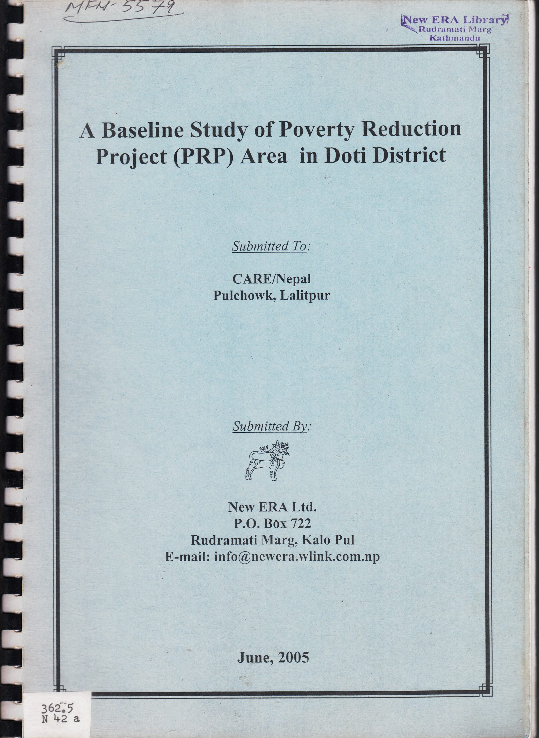 A Baseline Study of Poverty Reduction Project Area in Doti District