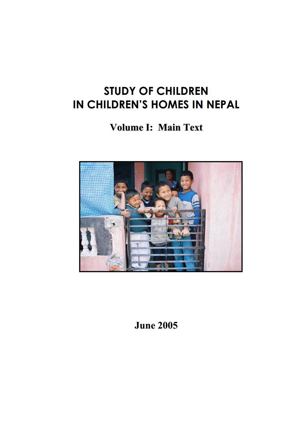 Study of Children in Children's Homes in Nepal