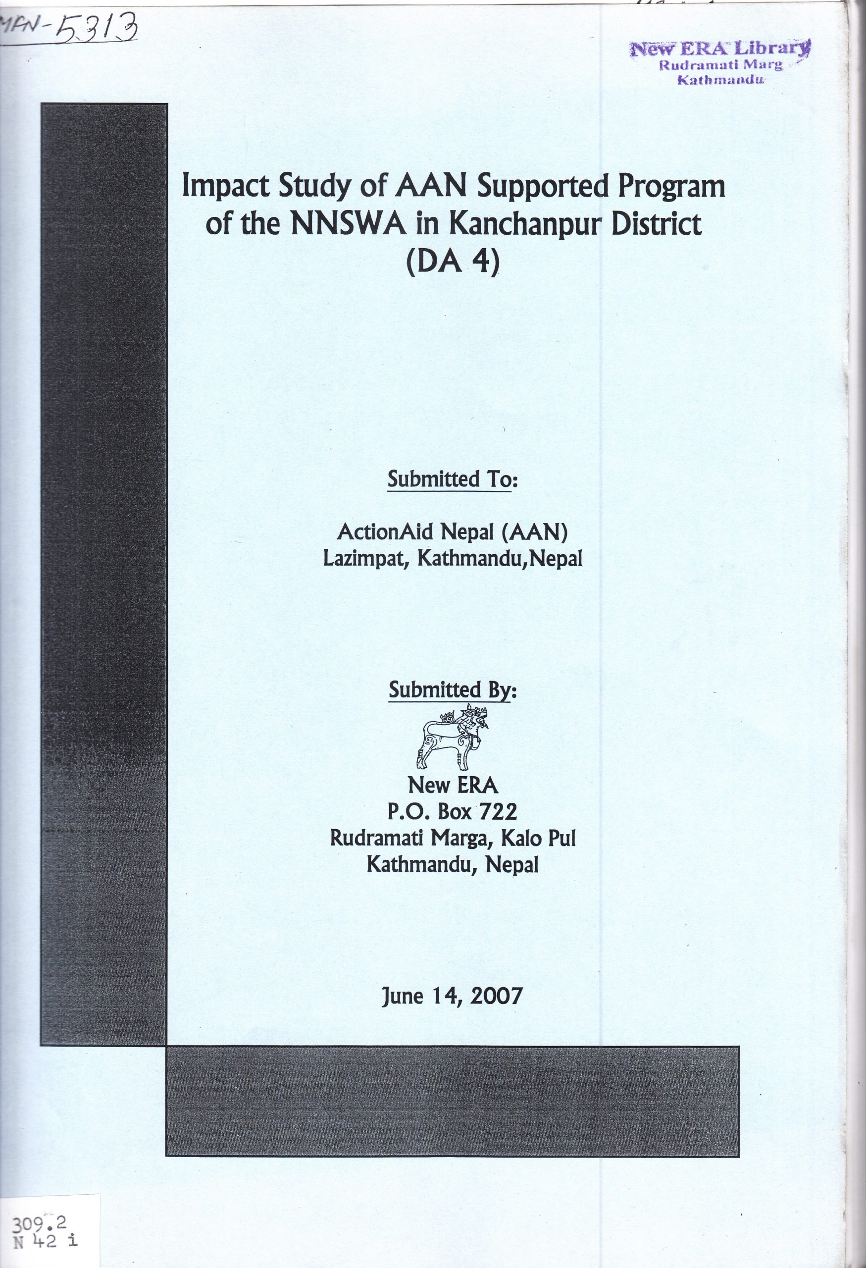 Impact Study of AAN Supported Program of the NNSWA in Kanchanpur District (DA4)