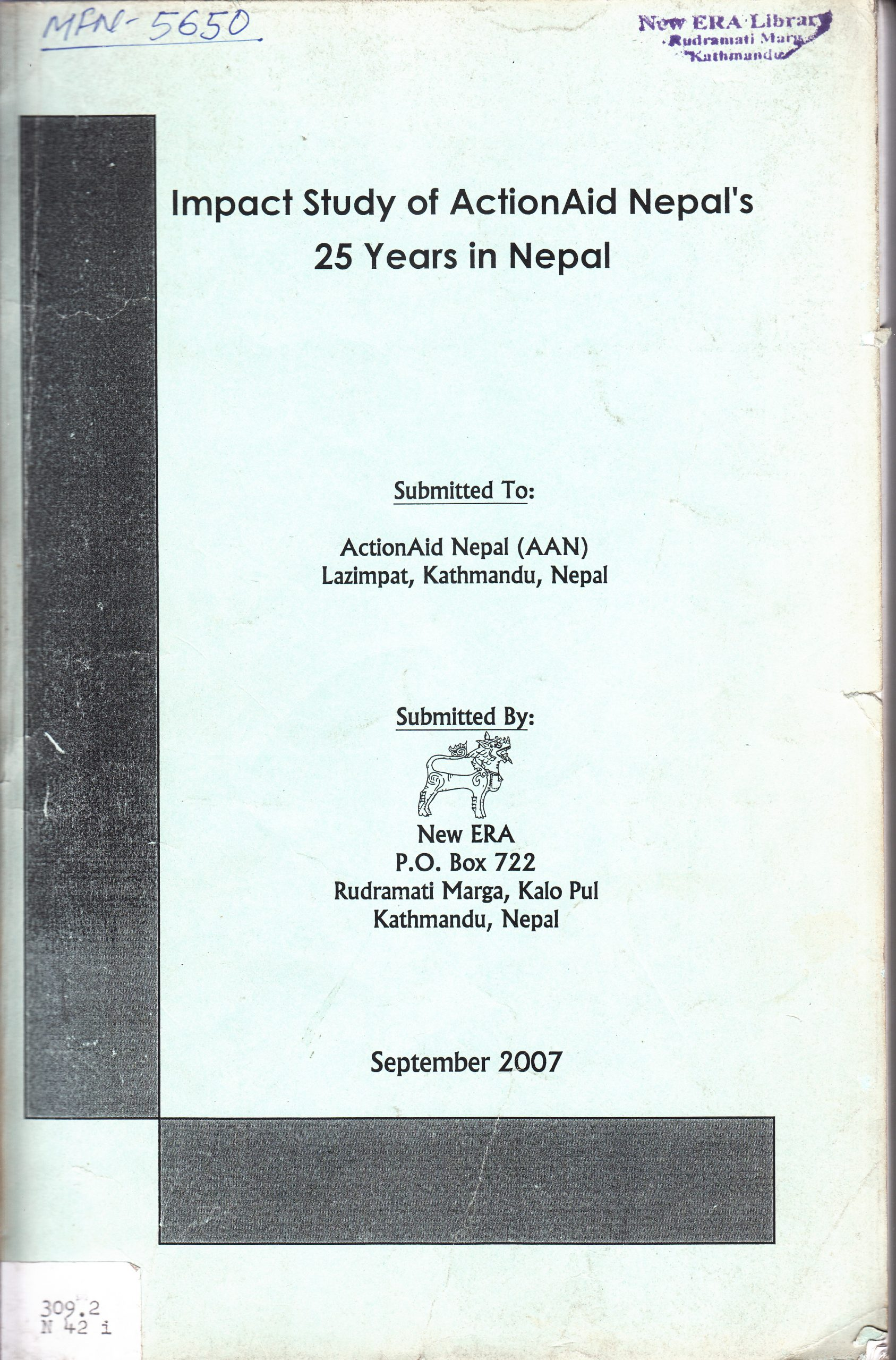 Impact Study of ActionAid Nepal 25 Years in Nepal