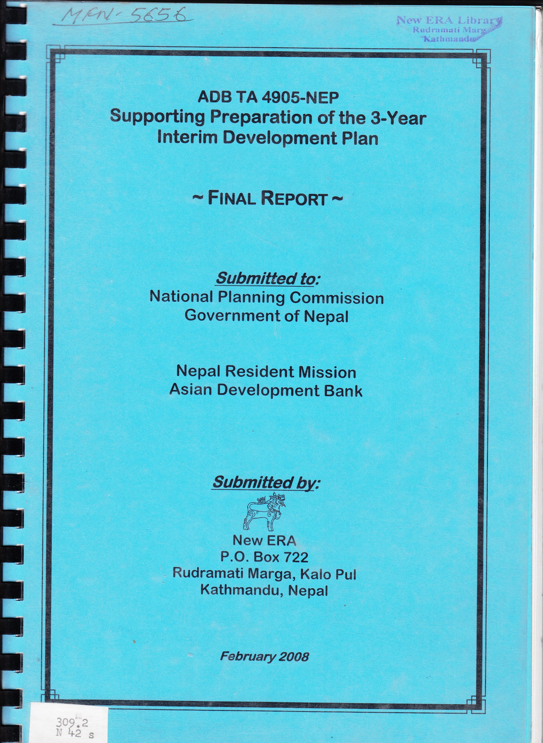 Supporting Preparation of the Three Year Interim Development Plan