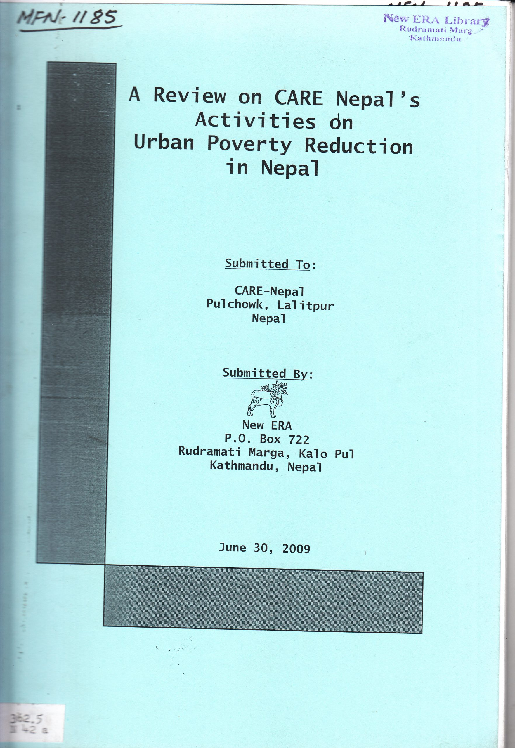A Review on CARE Nepal's Activities on Urban Poverty Reduction in Nepal