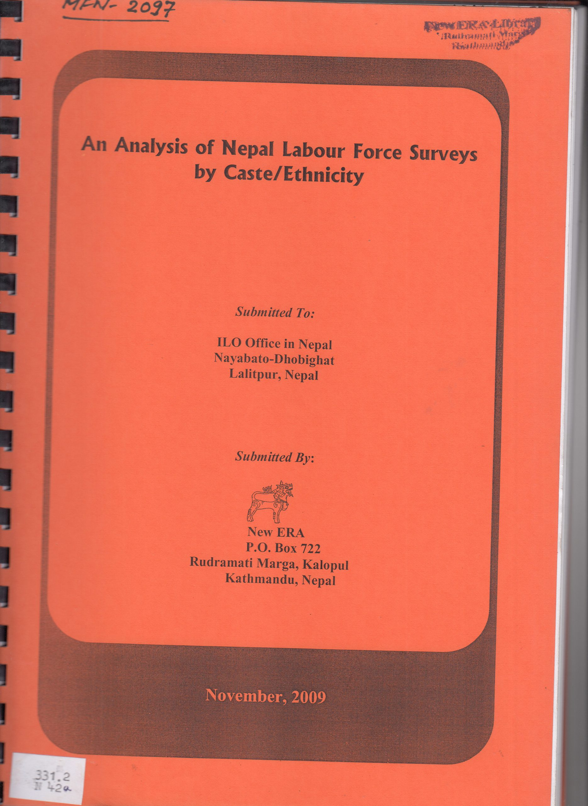An Analysis of Nepal Labor Force Surveys by Caste/Ethnicity
