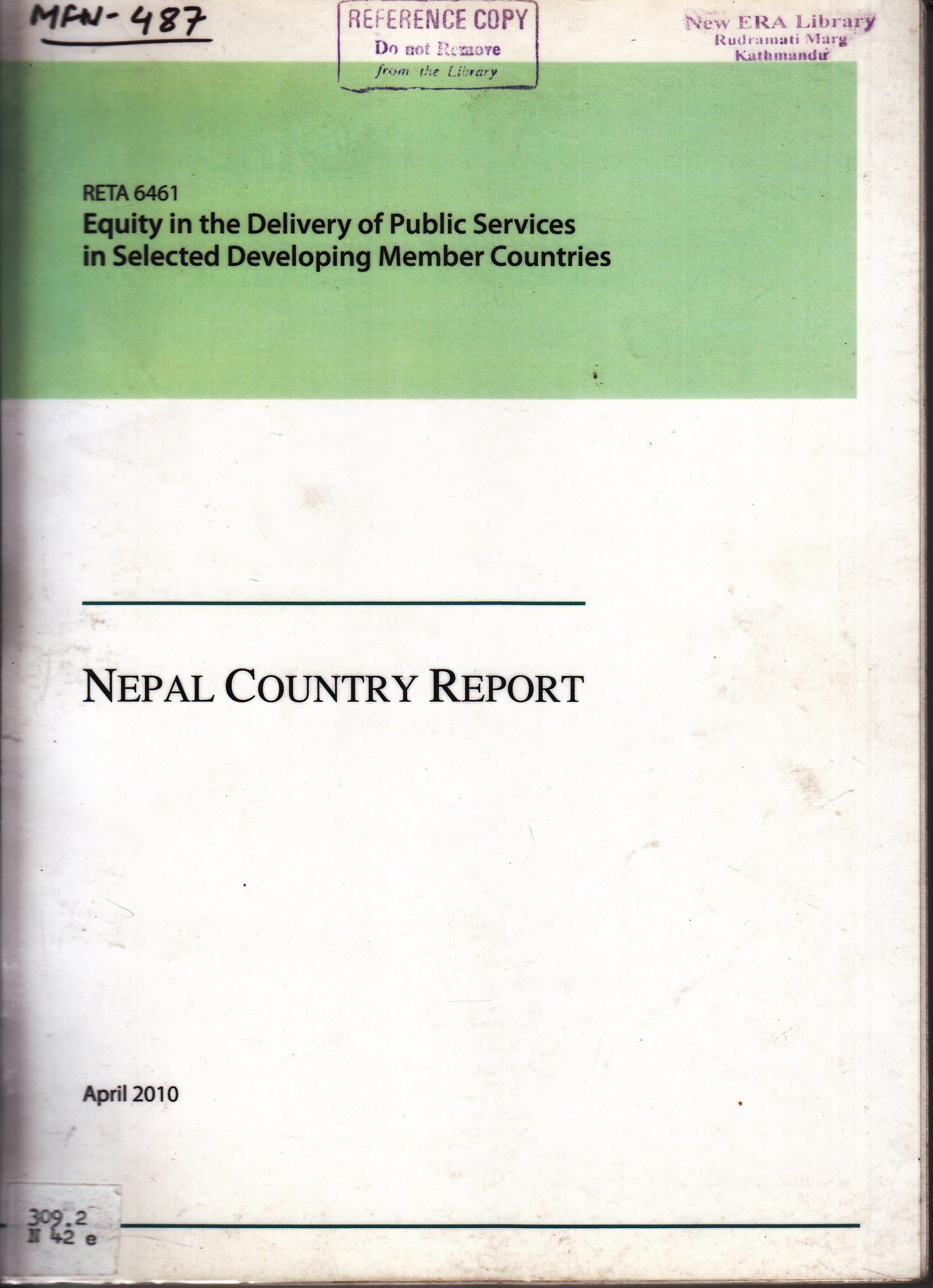 Equity in the Delivery of Public Services in Selected Developing Member Countries: Nepal Country Study