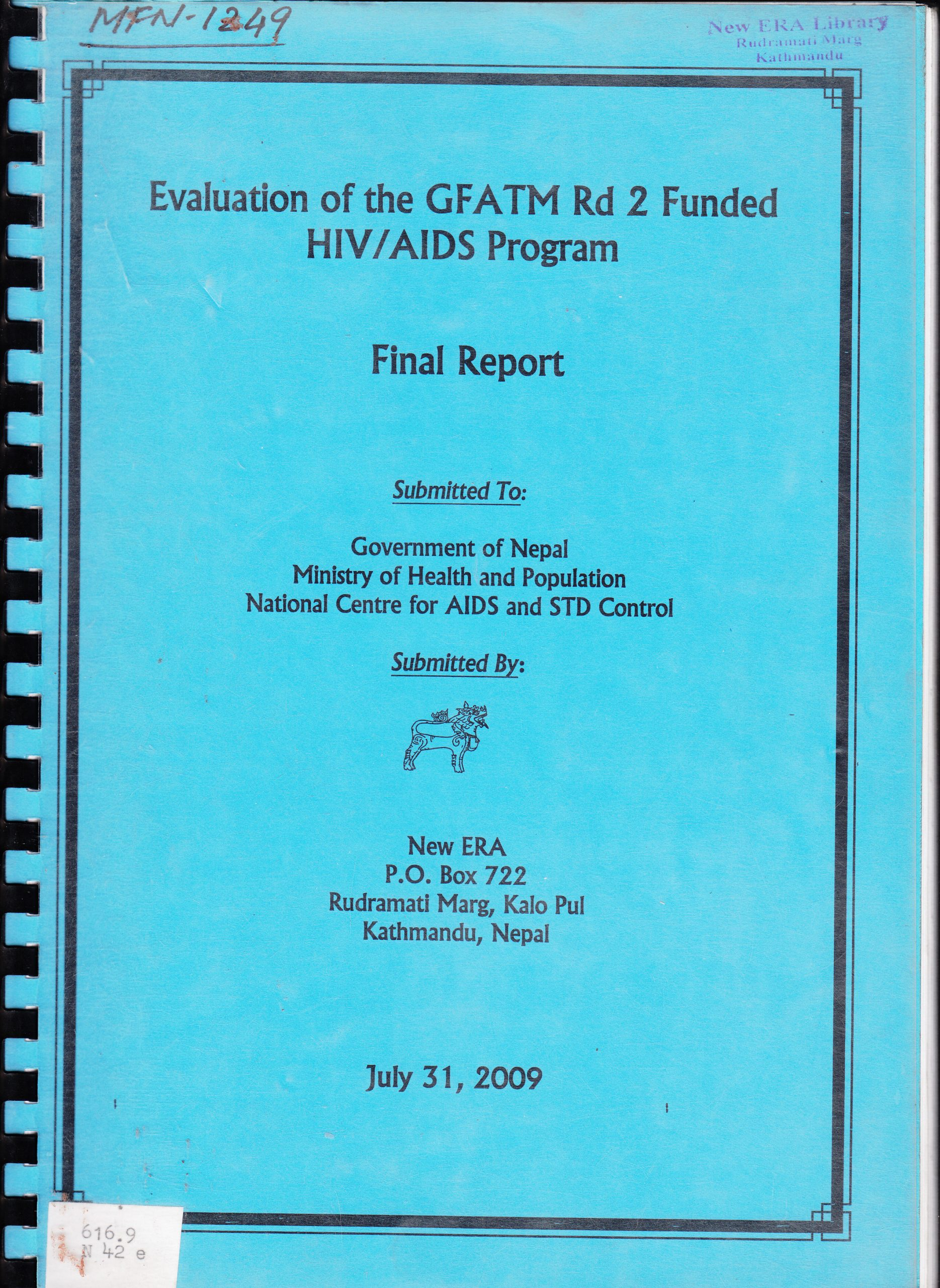 Evaluation of GFATM Rd 2 Funded HIV/AIDS Program