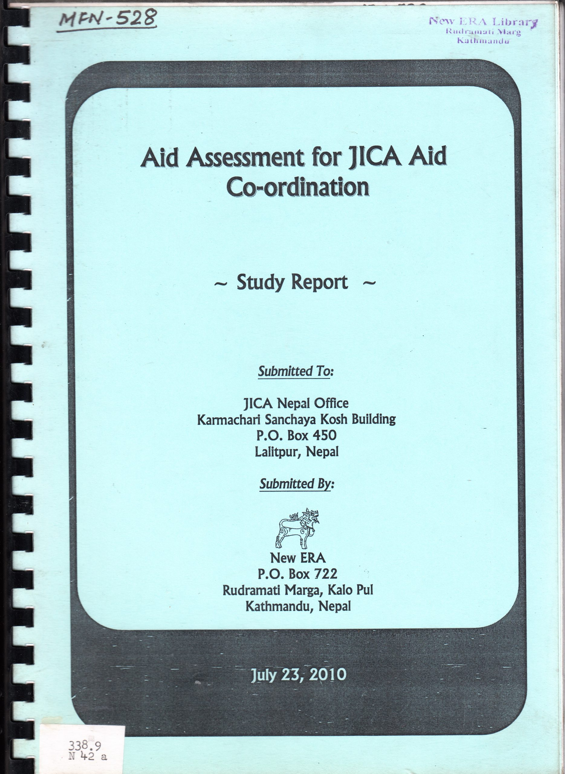 Aid Assessment for JICA Aid Coordination – Study Report