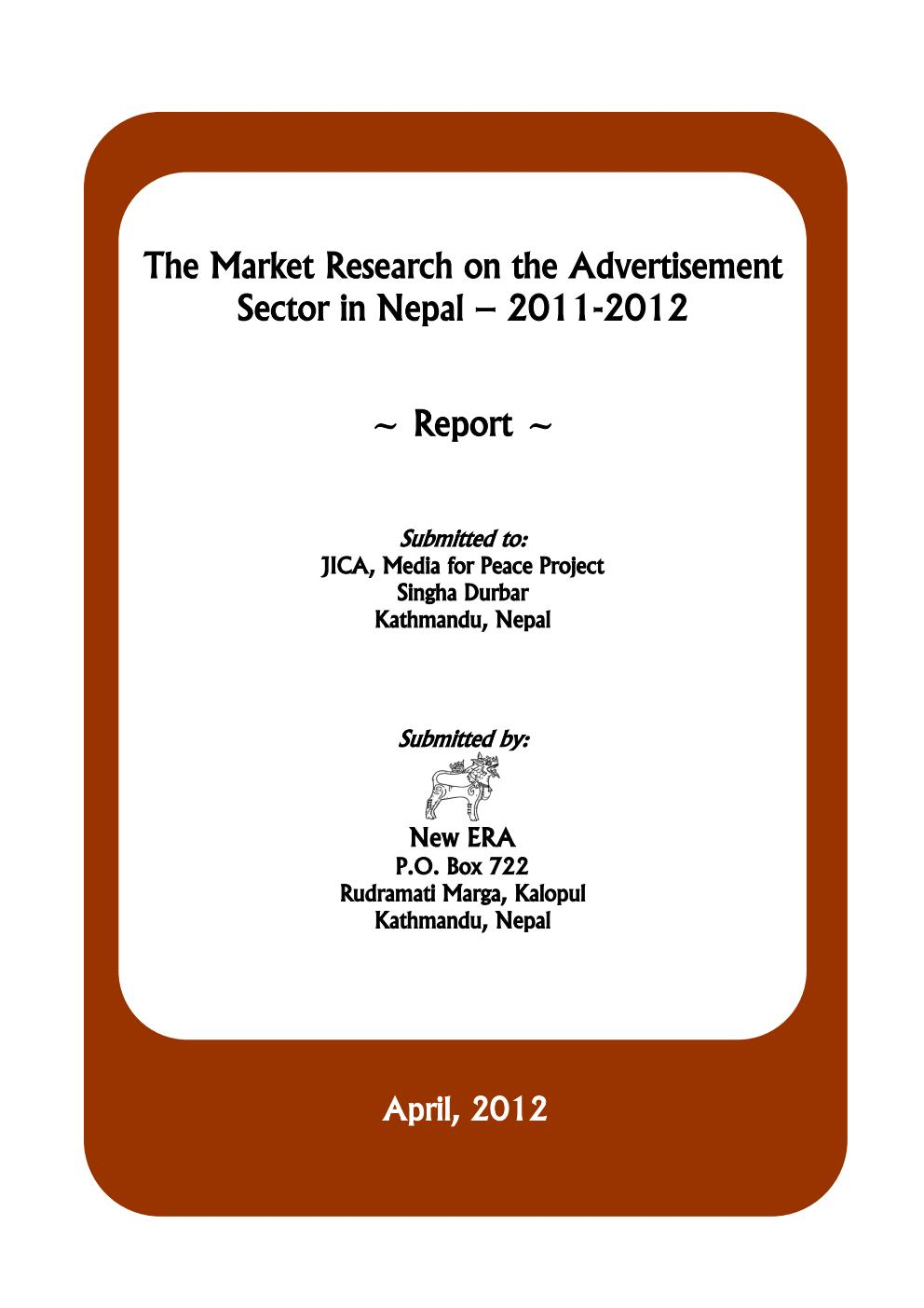 The Market Research on Advertisement Sectors in Nepal
