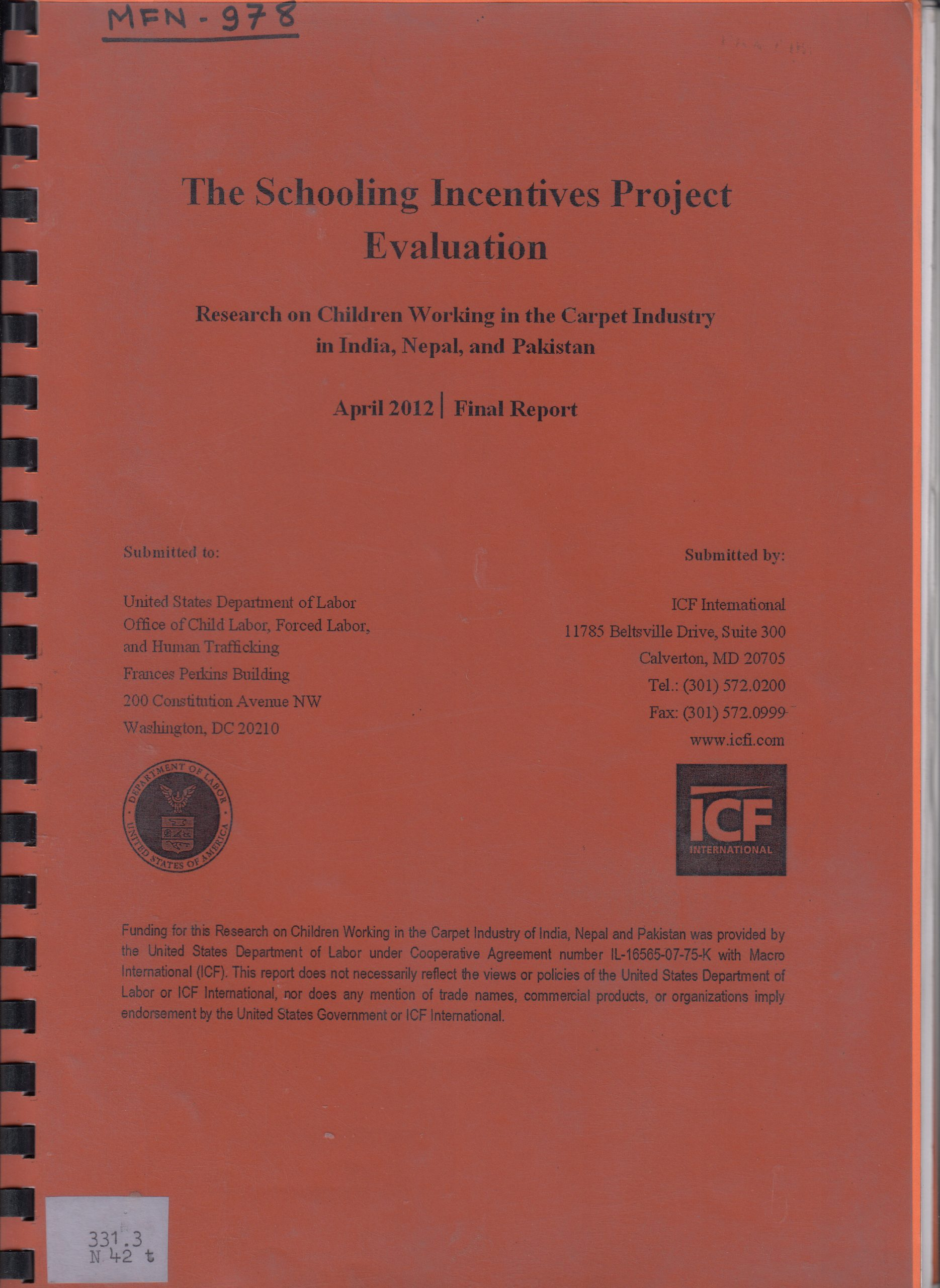 The Schooling Incentives Project Evaluation