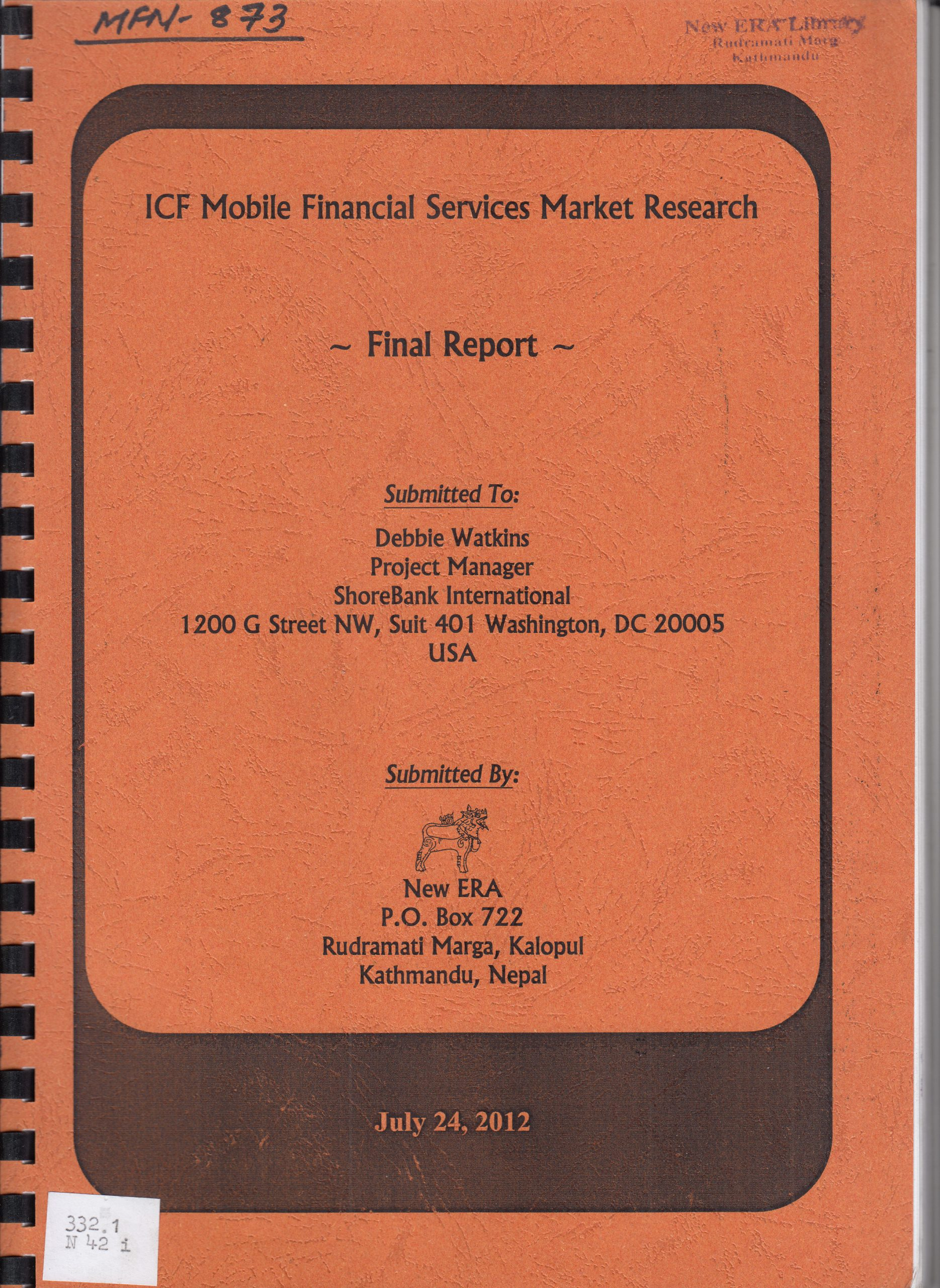 ICF Mobile Financial Services Market Research