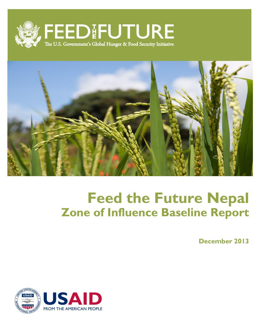 Feed the Future Nepal  Zone of Influence Baseline Survey