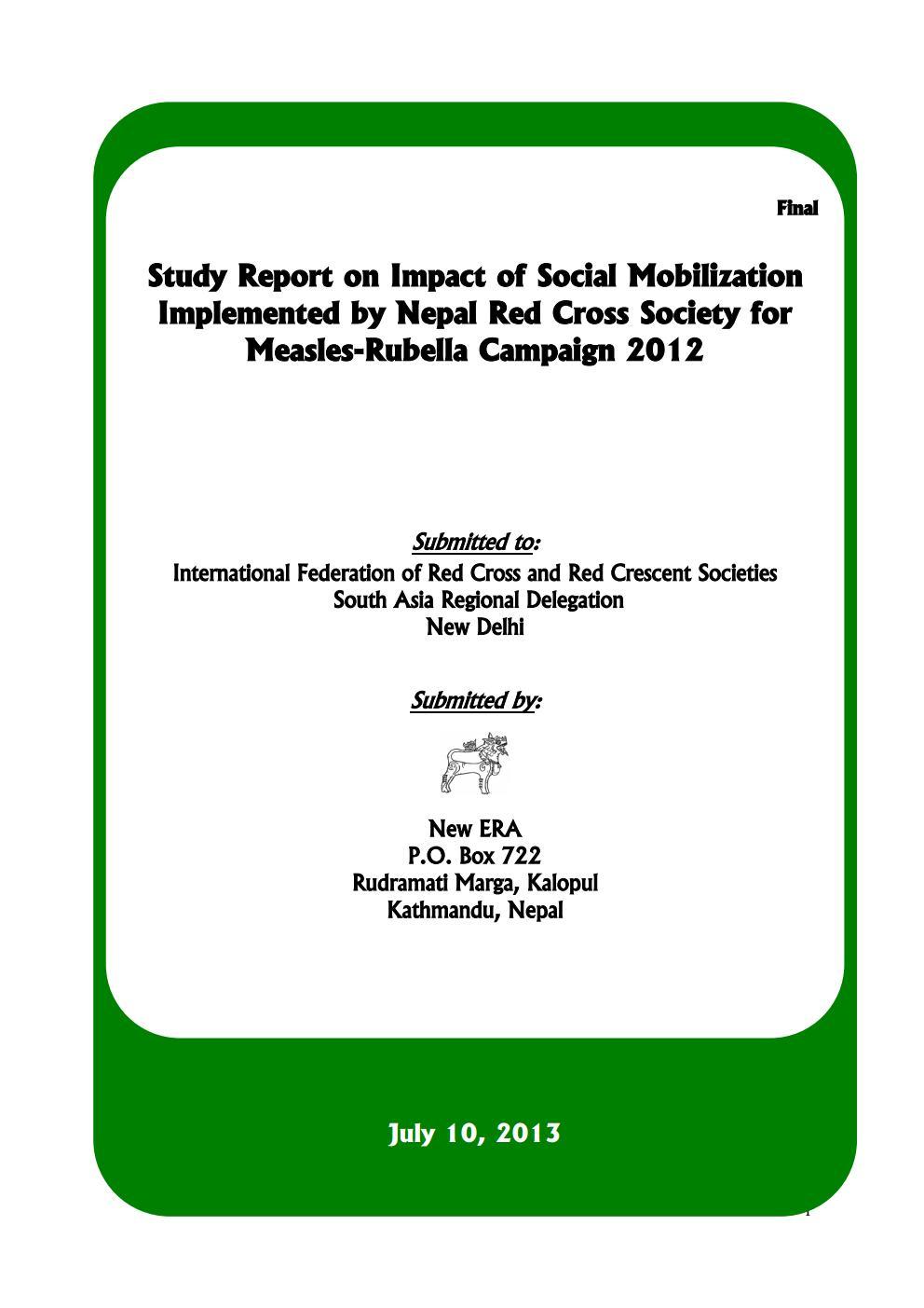 Measles-Rubella Campaign 2012