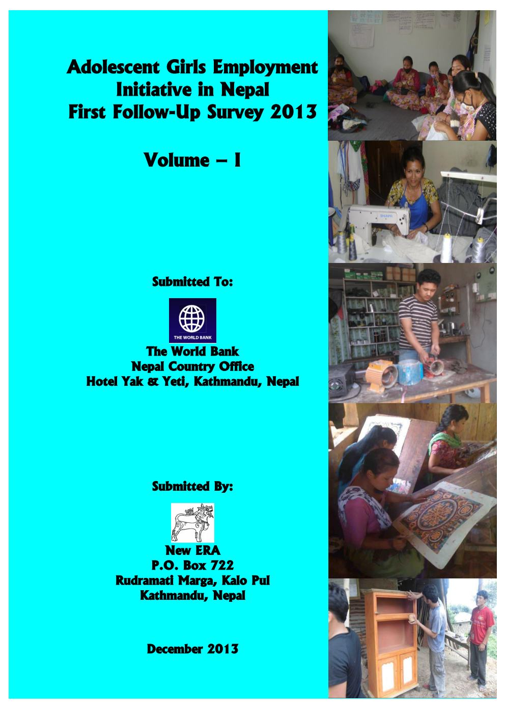Adolescent Girls Employment Initiative in Nepal – First Follow Up Survey 2013