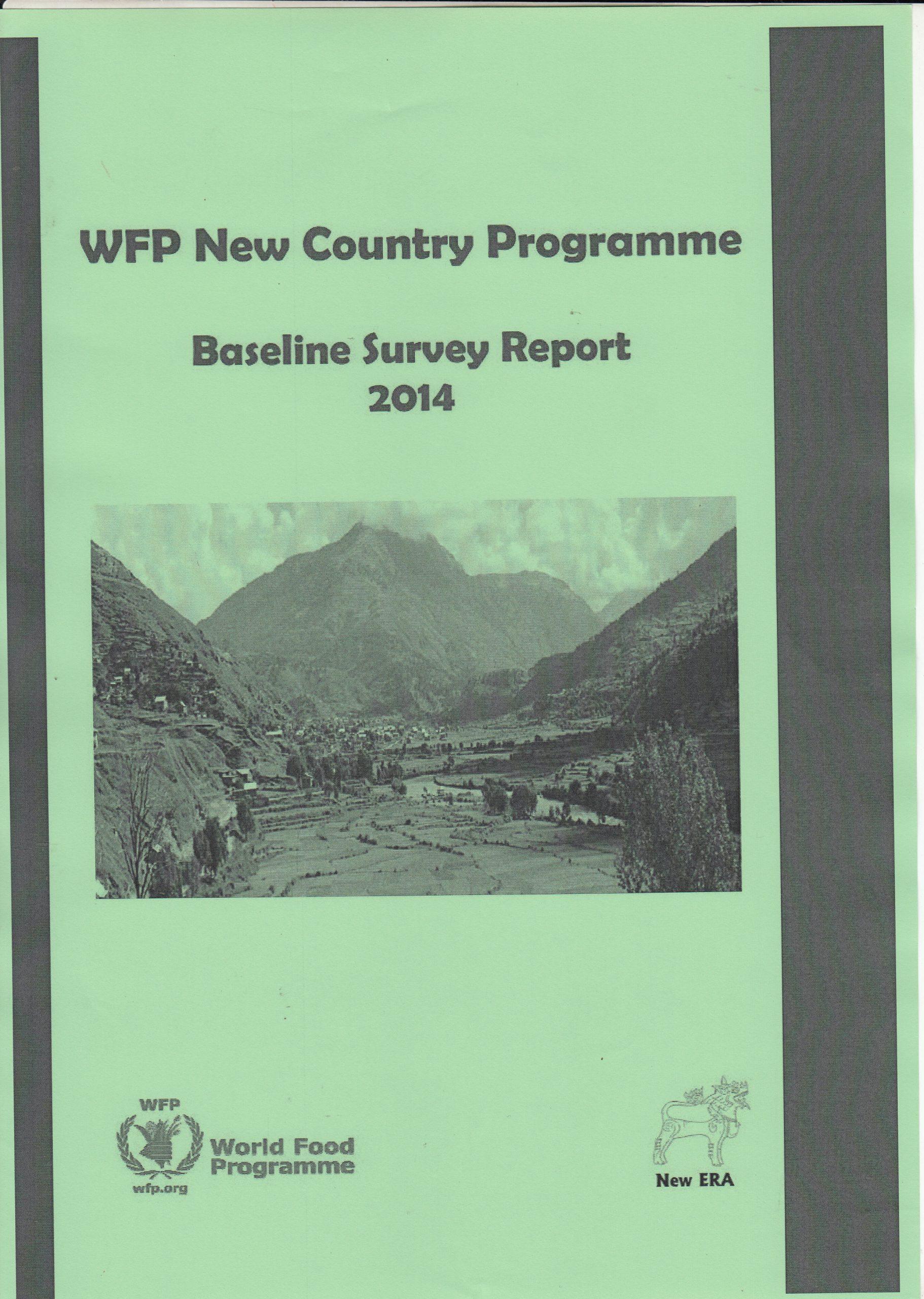 WFP New Country Program (2013-2017) -Baseline Survey