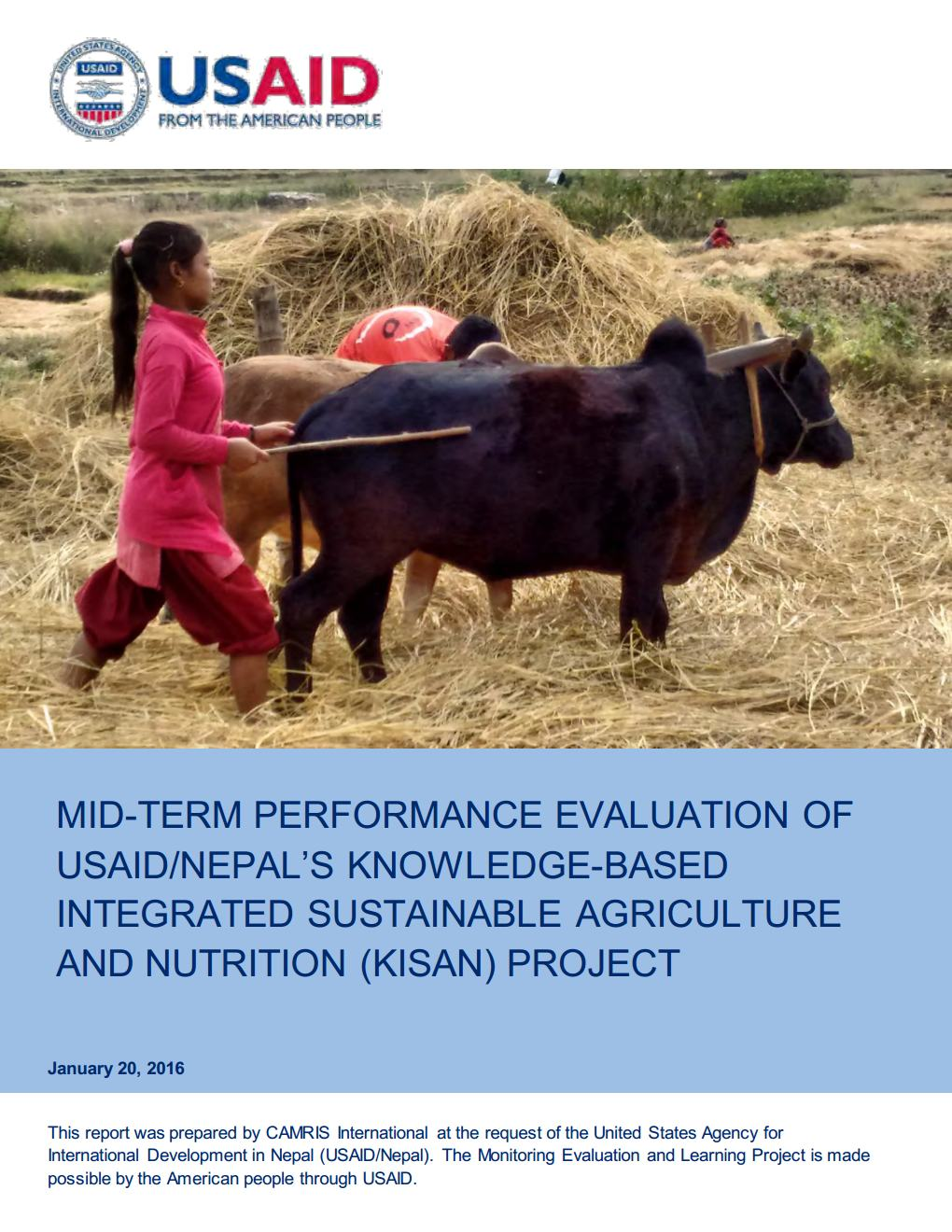 Mid-Term Performance Evaluation of Knowledge-Based Integrated Sustainable Agriculture and Nutrition (KISAN) Project
