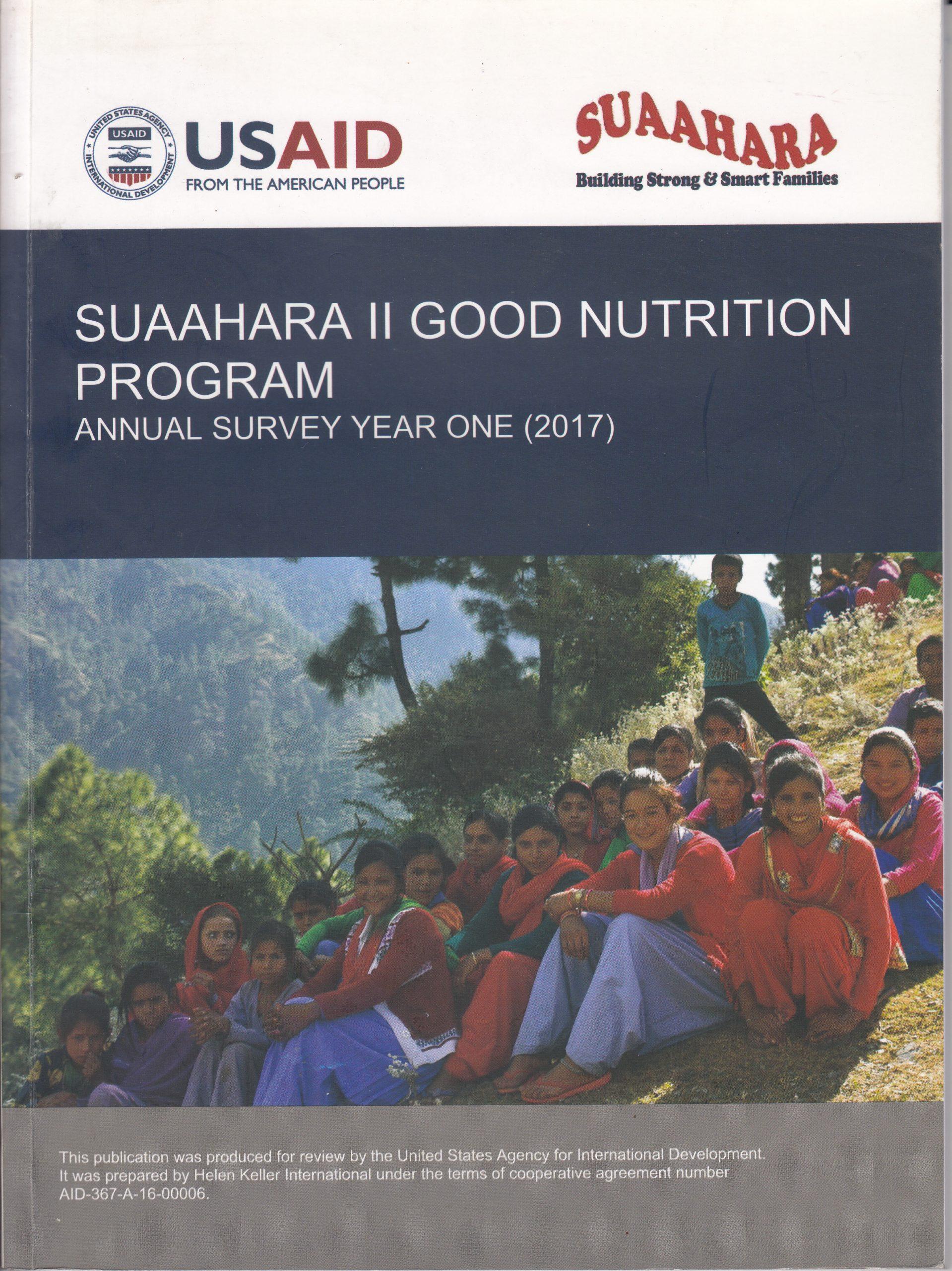 Suaahara II Annual Monitoring Survey Year I