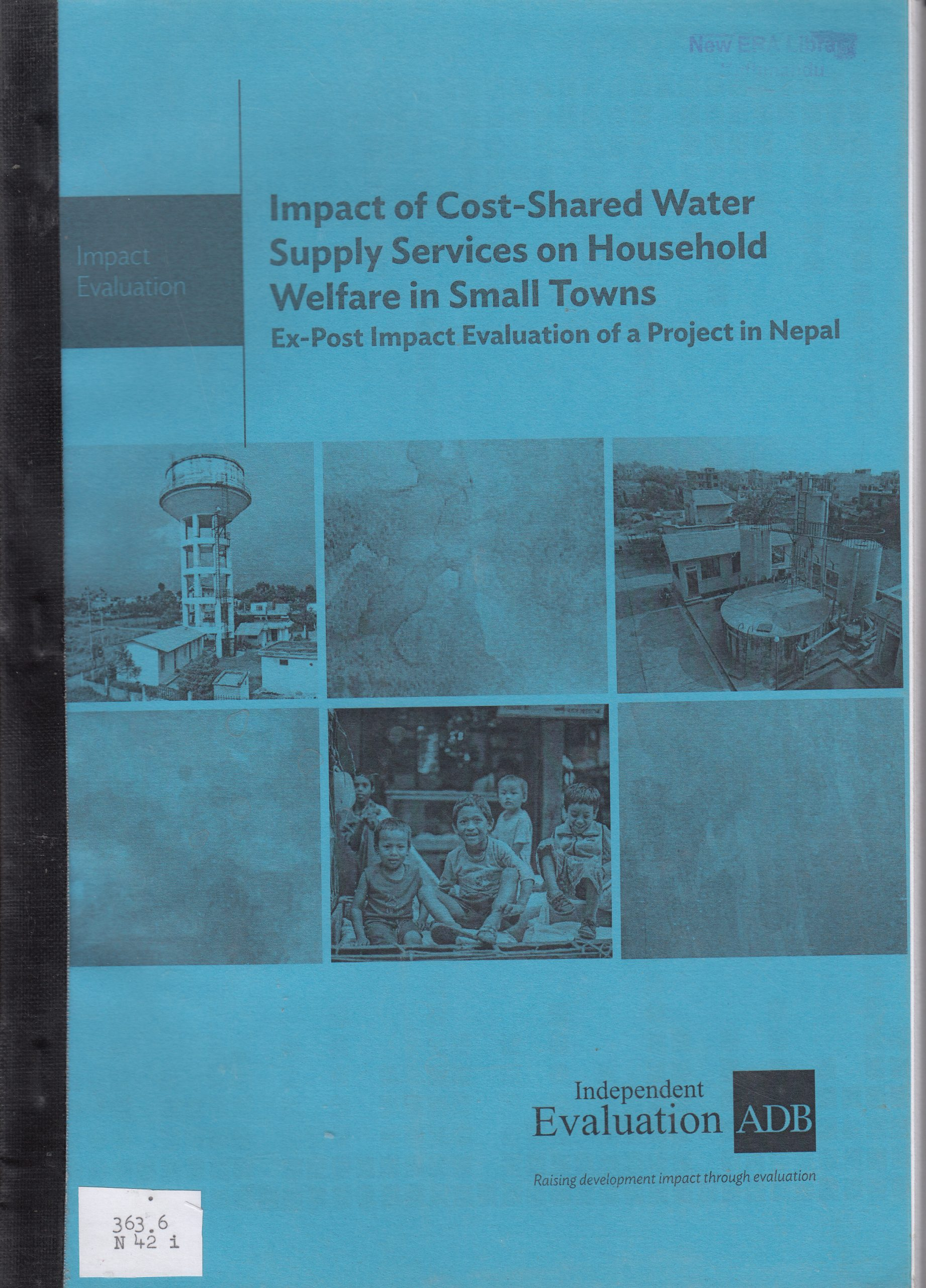 Impact of Cost-Shared Water Supply Services on Household Welfare in Small Towns: Ex-Post Impact Evaluation of a Project in Nepal