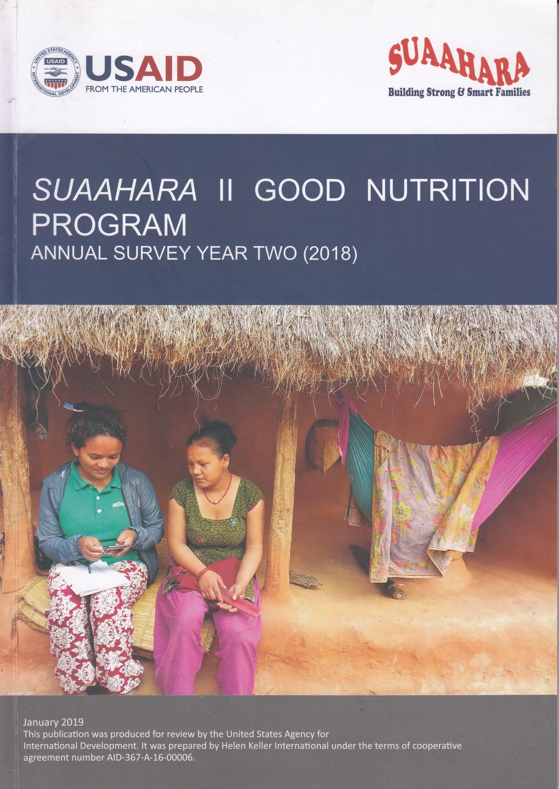 Suaahara II Annual Monitoring Survey Year 2
