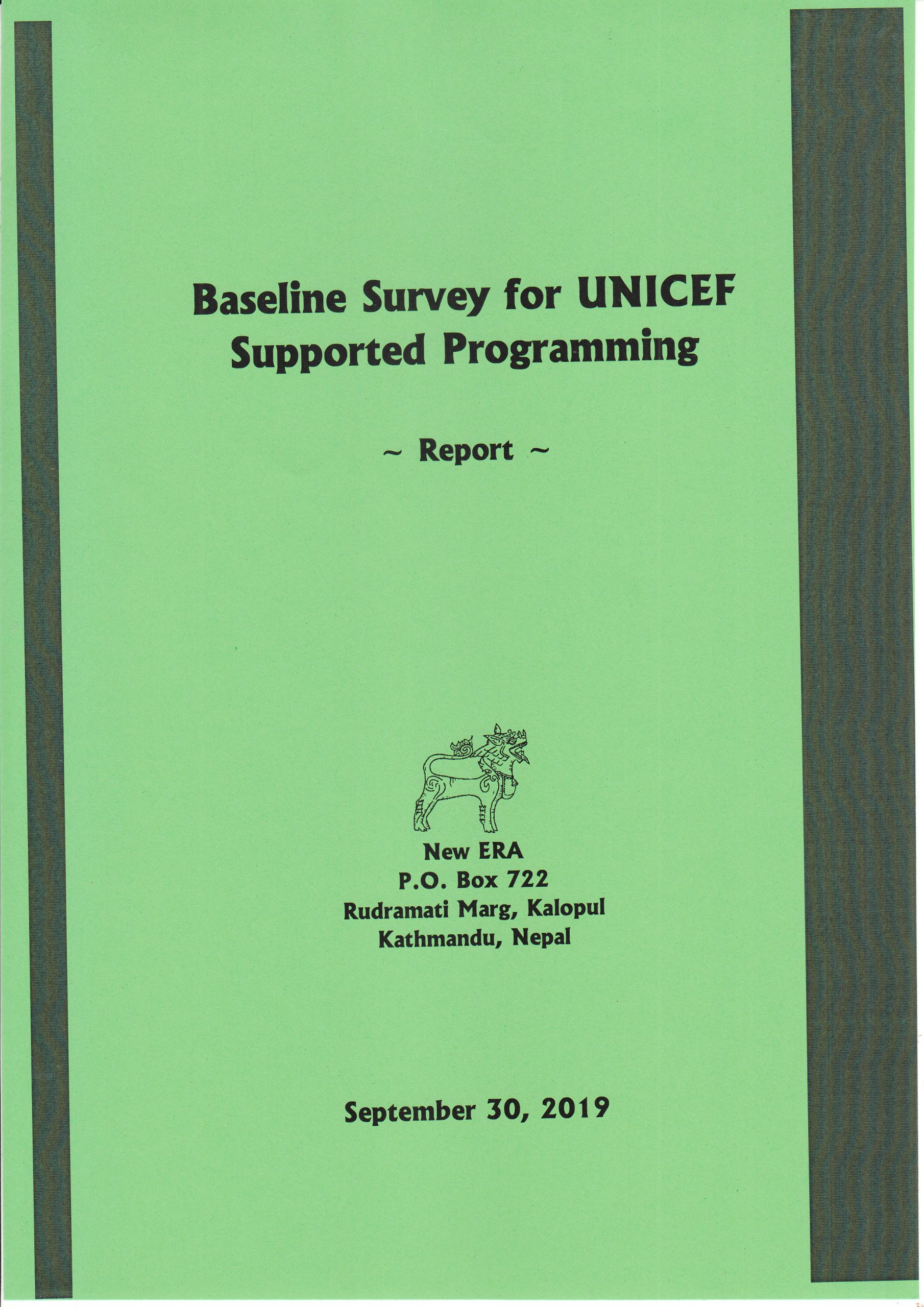 Baseline Survey for UNICEF Supported Palikas