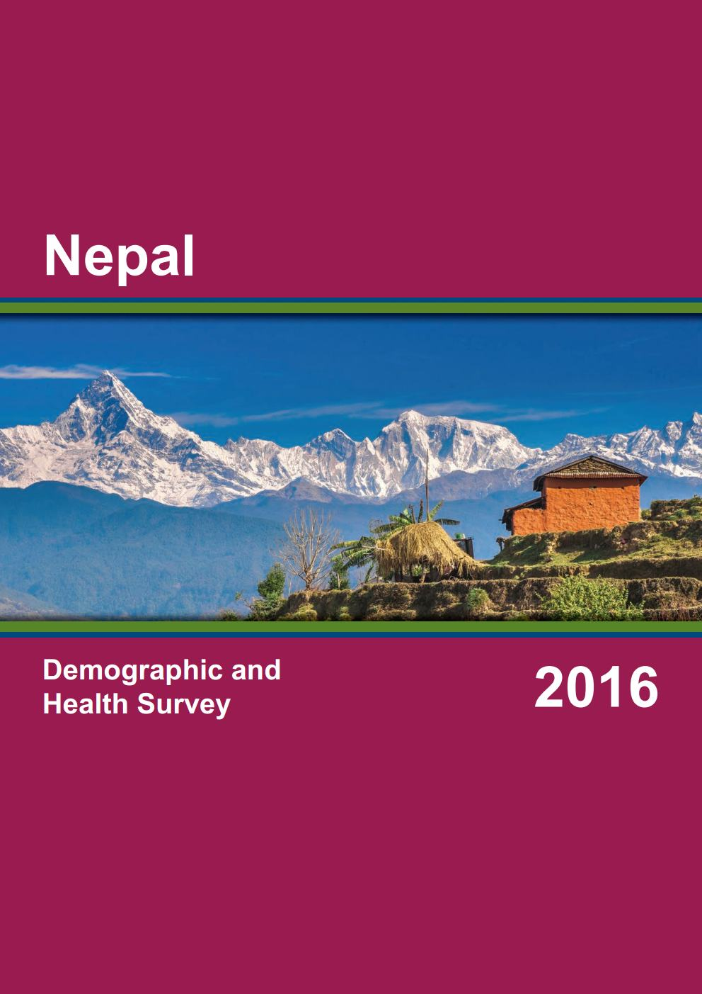 Nepal Demographic and Health Survey (2016 NDHS)