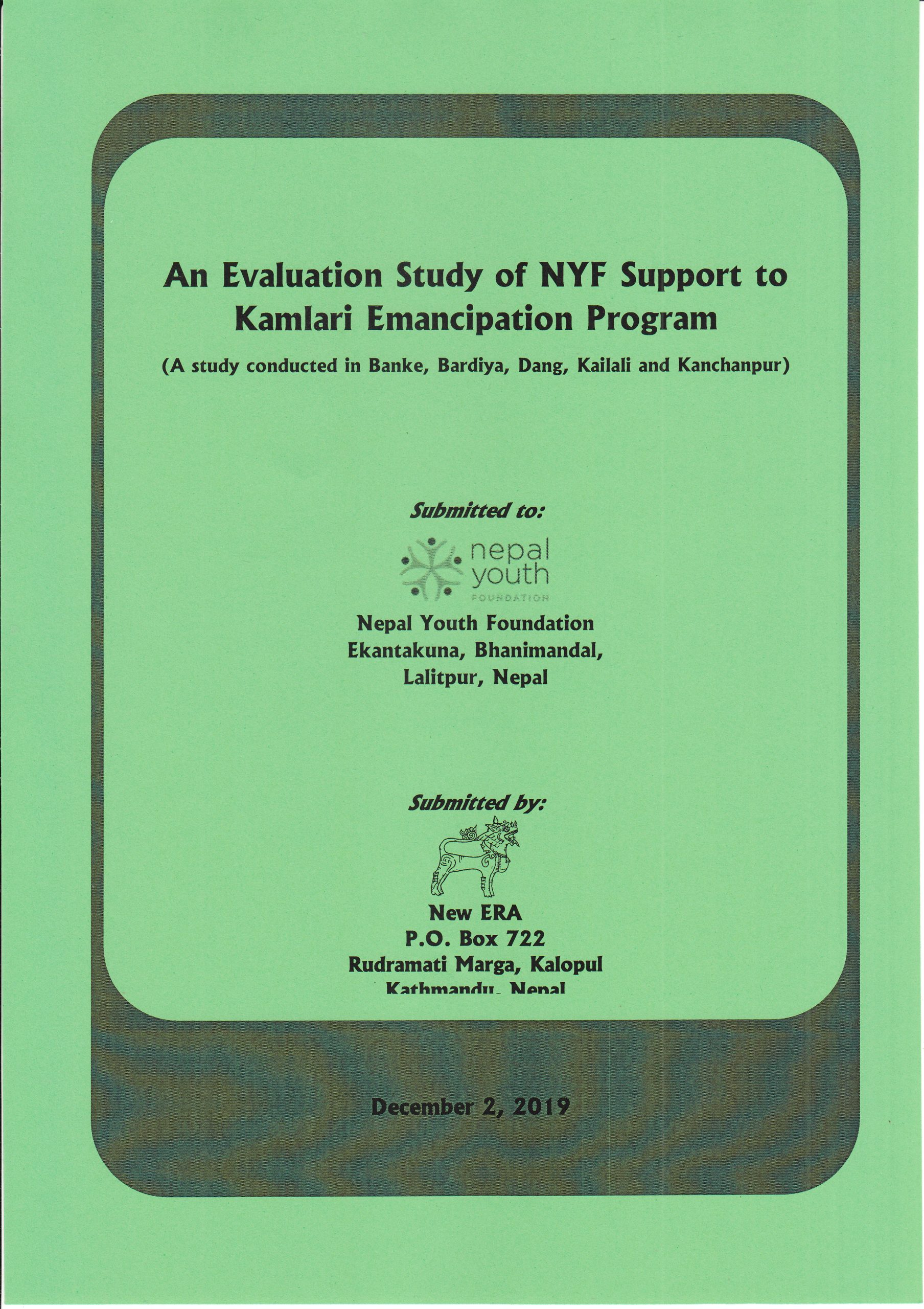 An Evaluation Study of NYF Support to Kamlari Emancipation Program