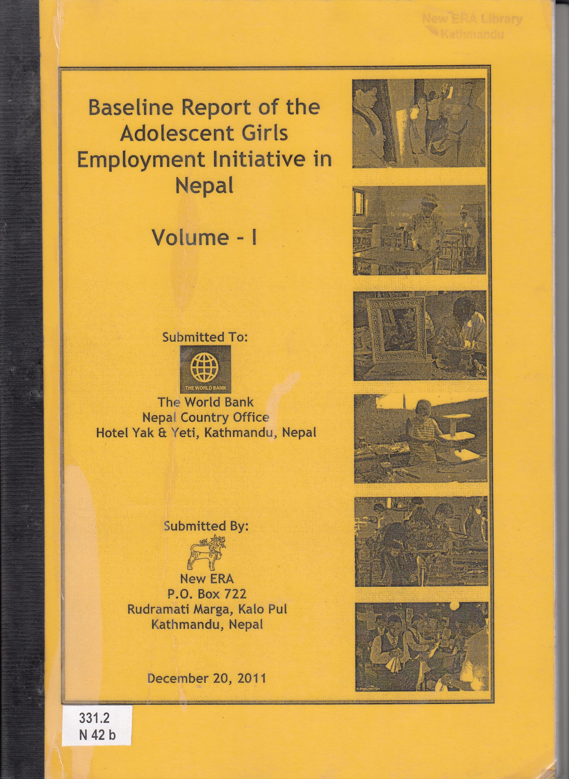 Baseline Survey of the Adolescent Girls Employment Initiative (AGEI) in Nepal 2011
