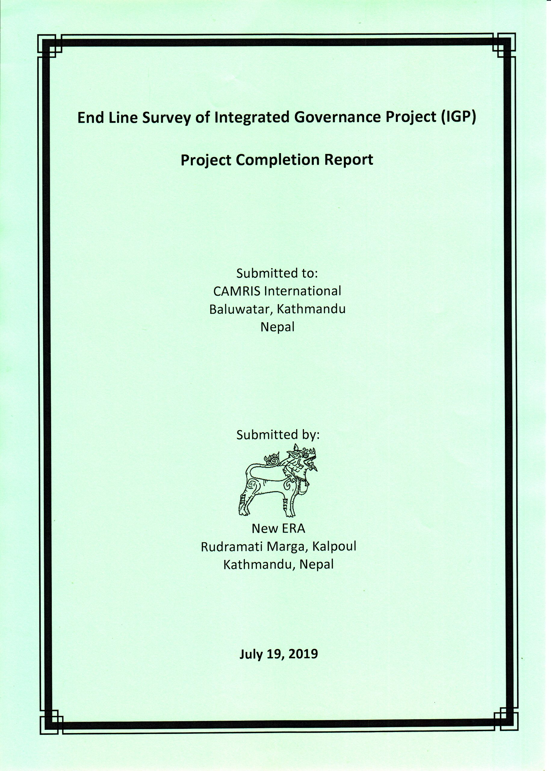 End-line Survey of Integrated Governance Project