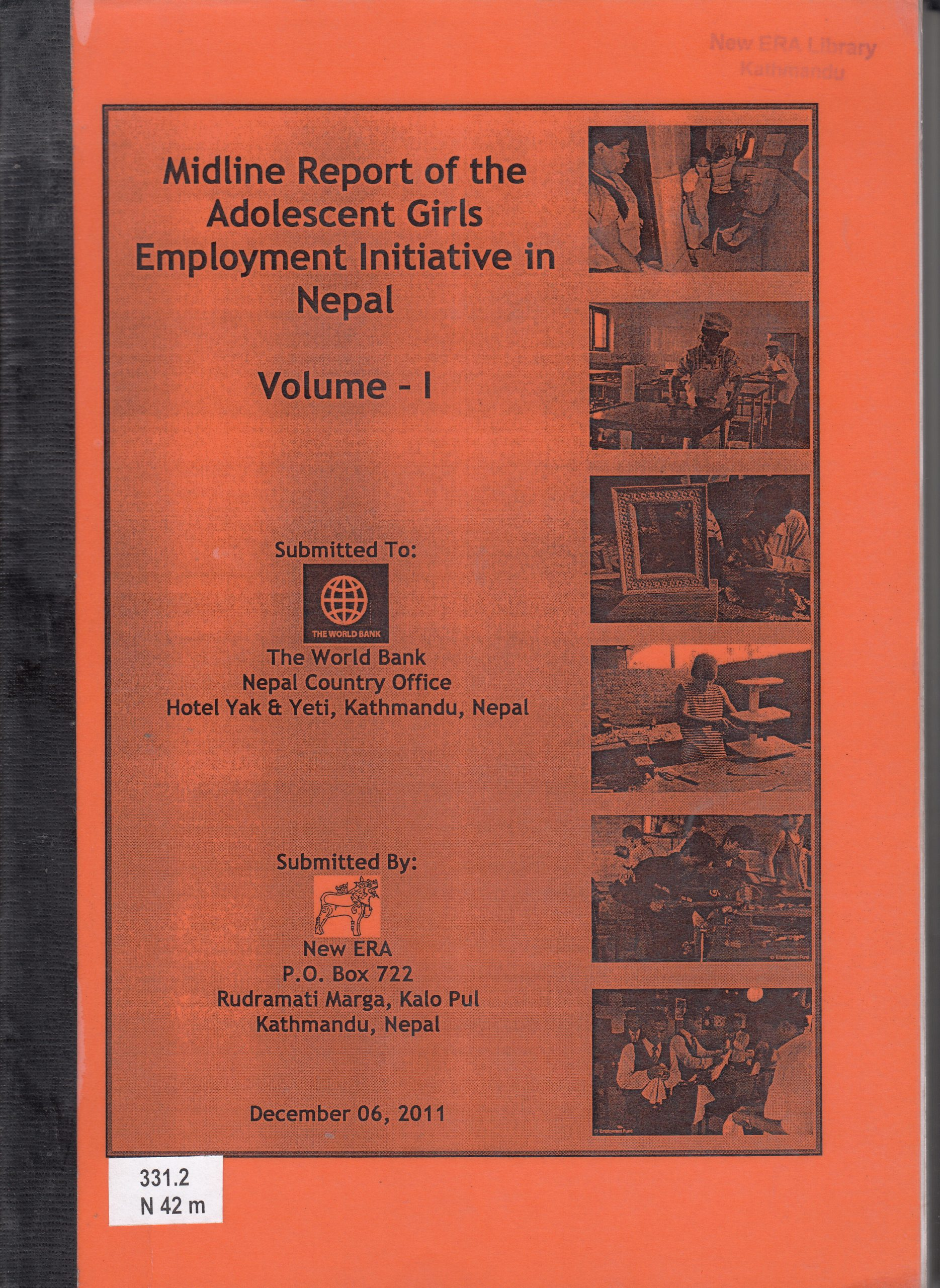 Midline Survey of the Adolescent Girls Employment Initiative (AGEI) in Nepal 2011